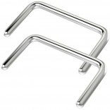 2pc Septum Retainer 16g Stainless Steel U Shaped Piercing Ring 16 Gauge Staple-Shape Jewelry (12mm)
