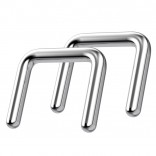 14g 8mm Septum Retainer Jewelry Nose Piercing Ring Retainers Rings Small Spacer Surgical Steel Staple Nostril