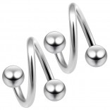 2pc 14g Twister Rose Gold Eyebrow Lip Bar Tragus Twist Earring Rings Spiral Barbell Piercing 3/8
