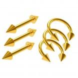 3pc 16g Circular Horseshoe Daith Tragus Helix Rings Gold - 3pcs Barbell Earrings Straight Bars 8mm