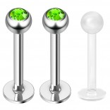 2pc 16g Surgical Steel Labret Monroe Lip Ring Tragus Helix Earring Stud Piercing Jewelry 10mm Jet