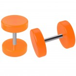 2pc Orange Cheater Plugs Fake Stretched Ears 16g Illusion Earrings For Women 8mm Piercing Jewelry