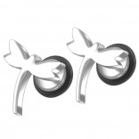 2pc 16g 316L Surgical Stainless SteelDragonfly Fake Ear Plug Gauges Earrings Cheater Stud Surgical Steel Bar Piercing Jewelry