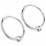 2pc 16g Hinged Captive Bead Ring Clicker Helix Earring Nose Hoop Cartilage Tragus Lip Septum Rook Forward Eyebrow 12mm Cubic Zirconia CZ