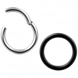 2pc 14g Clicker Nose Rings Hoop Septum Ring Ceptum Clickers Conch Piercing Jewelry 3/8 10mm