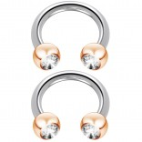 2pc 14g Circular Barbell Earrings Daith Forward Helix Surgical Steel Tragus Anti Rook Rim Ear Lobe Eyebrow Lip Cartilage Pinna Bridge