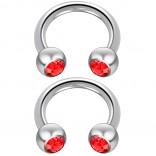 2pc 14 Guage Cirular Barbell Horseshoe Cartilage Earrings 8mm Tragus Helix Septum 14g Light Siam Piercing Jewelry