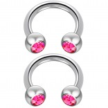 2pc 14 Guage Cirular Barbell Horseshoe Cartilage Earrings 8mm Tragus Helix Septum 14g Rose Piercing Jewelry