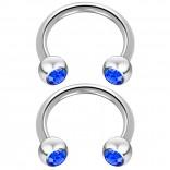 2pc 14 Guage Cirular Barbell Horseshoe Cartilage Earrings Tragus Helix Septum 14g Piercing Jewelry
