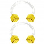 2pc 14g Gold Dice Flexible Bioflex Circular Barbell Horseshoe Septum Ring Bioplast Piercing 10mm
