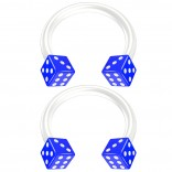2pc 14g Dice Flexible Bioflex Circular Barbell Horseshoe Septum Ring Bioplast Piercing 10mm Blue