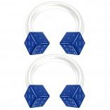 2pc 14g Blue Dice Flexible Bioflex Circular Barbell Horseshoe Septum Ring Bioplast Piercing 8mm
