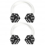 2pc 14g Dice Flexible Bioflex Circular Barbell Horseshoe Septum Ring Bioplast Piercing 8mm Black
