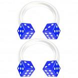 2pc 14g Acrylic Dice Flexible Bioflex Circular Barbell Horseshoe Septum Ring Bioplast Piercing 8mm