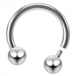 16g Internally Threaded Horseshoe Barbell Circular Stainless Steel Earring Men Women Tragus 8mm 5/16