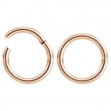 2pc 14g Hinged Clicker Captive Bead Ring Rose Gold 10mm Helix Earring Nose Hoop Rook Cartilage Tragus Lip Septum Forward Eyebrow Ear Lobe Nostril Rings Seamless Surgical Steel