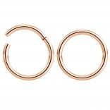 2pc 14g Hinged Clicker Captive Bead Ring Rose Gold 12mm Helix Earring Nose Hoop Rook Cartilage Tragus Lip Septum Forward Eyebrow Ear Lobe Nostril Rings Seamless Surgical Steel