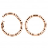 2pc 16g Hinged Clicker Captive Bead Ring Rose Gold 8mm Helix Earring Nose Hoop Rook Cartilage Tragus Lip Septum Forward Eyebrow Ear Lobe Nostril Rings Seamless Surgical Steel