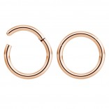 2pc 18g Hinged Clicker Captive Bead Ring Rose Gold 6mm Helix Earring Nose Hoop Rook Cartilage Tragus Lip Septum Forward Eyebrow Ear Lobe Nostril Rings Seamless Surgical Steel