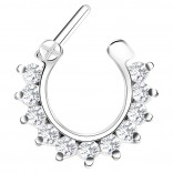 16g Septum Surgical Steel Helix Nostril Earrings Ring Nose Clicker Cartilage Lobe Piercing Jewelry