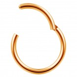 16g Clicker Ring Rose Gold Seamless Hinged Nose Hoop Septum Daith Conch Piercing Earring 10mm 3/8
