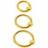 3pc 16g Captive Bead Ring Lip Rook Forward Helix 6mm 8mm 10mm Cartilage Septum Rim Tragus Belly Navel Eyebrow Conch Gold