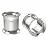 2pc 00g Stainless Steel Tunnel Plugs 10mm Double Flared Expander Earrings Gauges Internally Threaded