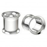 2pc 00g Surgical Stainless Steel Tunnel Plugs Metal 10mm Gauges Earrings Ear Expander Double Flared