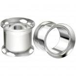 2pc 1/2 Surgical Stainless Steel Tunnel Plugs Metal 12mm Gauges Earrings Flesh Expander Double Flare