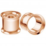 2pc 12mm 1/2 Double Flare Ear Gauge Flesh Tunnels Plug Rose Gold Stretcher Expander Piercing Jewelry