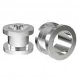 2pc 1/2 Tunnels Gauges For Men Women Screw Flesh Earrings 12mm Ear Plugs Metal Double Flared Steel