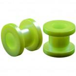 2pc 0g Gauge Acrylic Flesh Tunnels Green Hue Lobe Stretcher Plugs Ear Stretching Expander