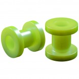 2pc 2g Gauge Acrylic Flesh Tunnels Green Hue Lobe Stretcher Plugs Ear Stretching Expander