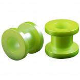2pc Gauge Acrylic Flesh Tunnels Green Hue Lobe Stretcher Plugs Ear Stretching Expander