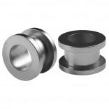 2pc 1/2 Gauge Acrylic Flesh Tunnels Metallic Grey Hue Lobe Stretcher Plugs Ear Stretching Expander