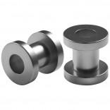 2pc 2g Gauge Acrylic Flesh Tunnels Metallic Grey Hue Lobe Stretcher Plugs Ear Stretching Expander