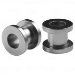 2pc Gauge Acrylic Flesh Tunnels Metallic Grey Hue Lobe Stretcher Plugs Ear Stretching Expander