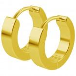 2pc 20g Gold Surgical Stainless Steel Huggie Hoop Earrings For Women Men Huggy Clutch Flat Jewelry