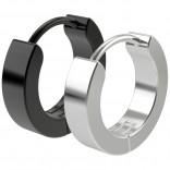 2pc 20g Black Steel Surgical Stainless Steel Huggie Hoop Earrings For Men Women Huggy Clutch Jewelry