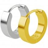 2pc 20g Steel Gold Surgical Stainless Steel Huggie Hoop Earrings For Men Women Huggy Clutch Jewelry