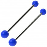 2pc Industrial Barbell 14g Cartilage Earrings Piercing Jewelry 38mm Bar Fancy Colorful Acrylic Balls