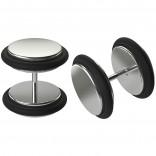 2pc Cheater Plugs 00 Fake Gauge Earrings 10mm 3/8 For Women Men 16g Illusion Ear Piercing Jewelry