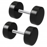 2pc 2 Guage Black Cheater Plugs 2g Fake Stretched Ears 16g Illusion Earrings For Women 8mm Piercing Jewelry