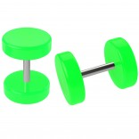 2pc 0g Neon Fake Ear Gauges Green Illusion Earrings 16g Cheater Plugs Stretched Ear Piercing Jewelry