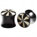 2pc Double Flared 3/8 Plugs Ear Gauges Swirl Acrylic Unisex Earrings Stretcher Flesh Expander