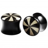 2pc Double Flared 1/2 Plugs Ear Gauges Swirl Acrylic Unisex Earrings Stretcher Flesh Expander
