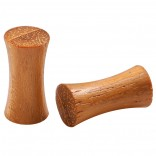 2pc Organic Teak Wood Double Flared Saddle 4g (5mm) Gauge Earring Tunnel Ear Lobe Stretcher Piercing Jewelry