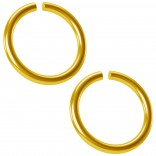 2pc 18g Gold Anodized Seamless Ring 8mm 5/16 Inifinity Hoop Endless Cartilage Earring Tragus Conch