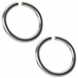 2pc 18g Surgical Stainless Steel Ring Seamless 8mm 5/16 Inifinity Hoop Endless Cartilage Earrings