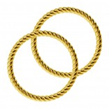 Twisted Wire Gold Seamless Hoop Nose Ring 16g Lip Fitted Earings Endless Infinity Septum 10mm Rings